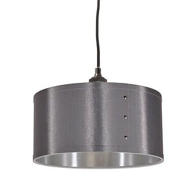 Dainolite 1LT Drum Shade Pendant 8.5 x 12 x 12 in Platinum/silver (FAY-131P-SV)