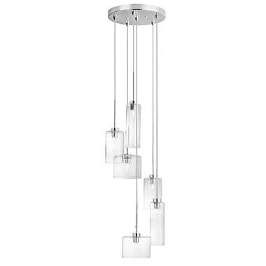 Dainolite – Luminaire suspendu rond, 6 ampoules, 7,5 x 11 x 11 po, chrome poli (IC-106P-PC)