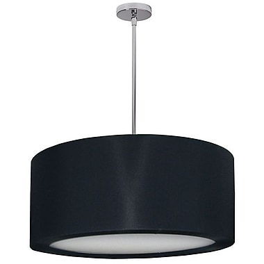 Dainolite 4LT Pendant W Bk Lycra Shd 11 x 24 x 24 in Polished Chrome (JAS-25P-PC-901)