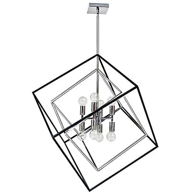 Dainolite 8LT Pendant 30 x 27 x 25 in Polished Chrome (KAP-278P-PC-MB)