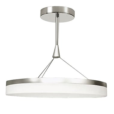Dainolite 40w LED Circular Pendant 14 x 24 x 24 in Silver/chrome (KEP-24P-SV)