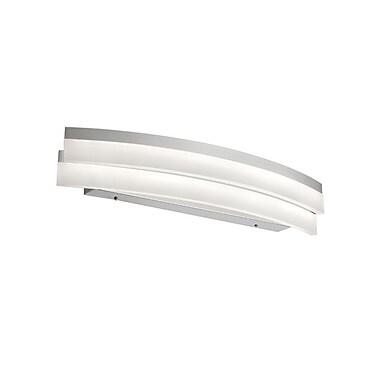 Dainolite – Luminaire de salle de bain courbe à DEL, 20 W, 5 x 26 x 5,5 po, argenté (KEP-26CW-SV)
