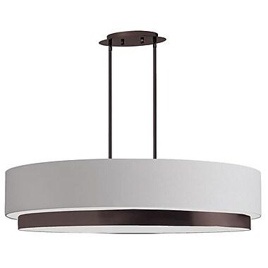 Dainolite 4LT Oval Pendant 9.5 x 32 x 9.5 in Vintage OiLED Bronze (LAR-324-VOB)