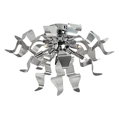 Dainolite 5LT Flush-mount With Wavelet Ribbons 10 x 16 x 16 in Silver (MRM-165FH-SV)