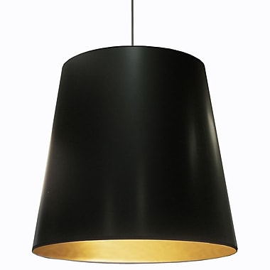 Dainolite – Luminaire suspendu abat jour rond surdimensionné 1