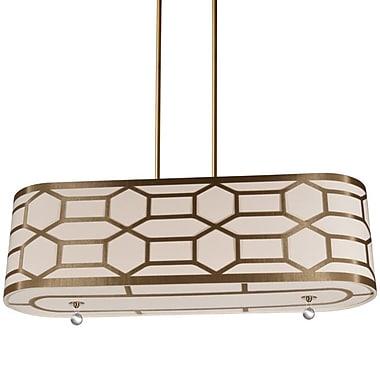 Dainolite – Luminaire suspendu horizontal à 4 ampoules, 10 x 34 x 9 po, doré classique (PEM-344HP-VB-CG)