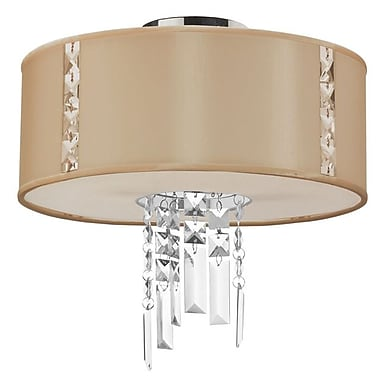 Dainolite 2LT Semi Flush Fixture 13 x 12 x 12 in Cream (RTA-12SF-PC-839)