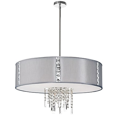 Dainolite 4LT Pendant W Crystal Accents W 790 Diff 16 x 29 x 29 in Steel (RTA-29-PC-834)