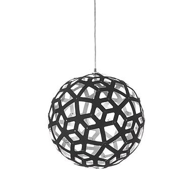 Dainolite – Luminaire à 1 ampoule, 18 x 18 x 18 po, noir/argenté (TAL-181P-697)