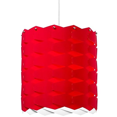Dainolite 1LT Cross Hatch Pendant 13 x 12 x 12 in Red (XBL-L-795)