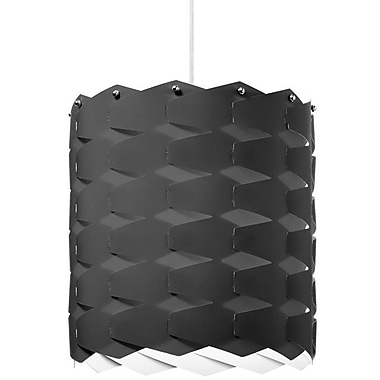 Dainolite 1LT Cross Hatch Pendant 13 x 12 x 12 in Black (XBL-L-797)