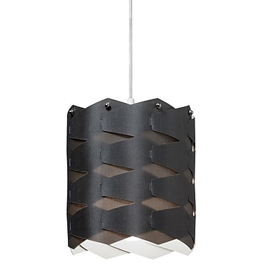 Dainolite 1LT Cross Hatch Pendant 9 x 8 x 8 in Black (XBL-M-797)