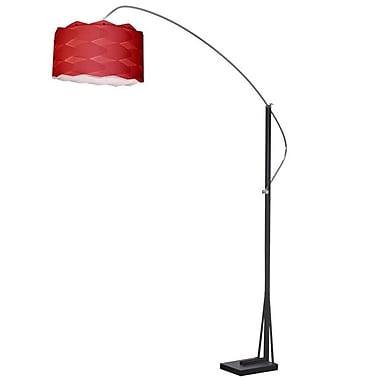 Dainolite Arc Floor Lamp W Rd Shd 83 x 58 x 18 in Polished Chrome/matte Black (585F-WV-RD)