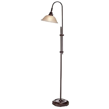 Dainolite Adjustable Floor Lamp 58 x 14 x 10 in Espresso (DM824F-ES)