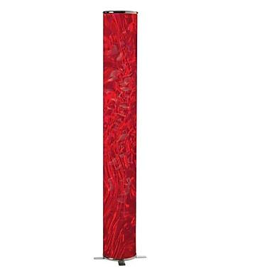 Dainolite – Lampe de sol décorative, 58 x 12 x 12 po, rouge (DSTX772F)