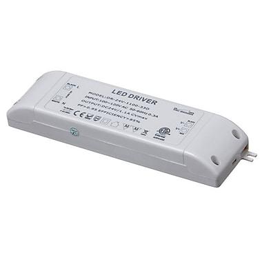 Dainolite – Pilote DEL à intensité variable 30 W, courant continu de 24 V, 1 x 6,8 x 1,9 po, blanc (DRDIM-30)
