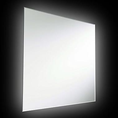 Dainolite 32w Square Mirror Backlit 36inch 36 x 36 x 1.5 in Silver (MLED-36SQ-BLT)