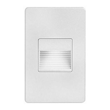 Dainolite – Plaque murale pour lampe à DEL de 3 W, rectangulaire, extérieur, 4,9 x 3 x 2,5 po, blanc (DLEDW-200-WH)