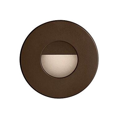 Dainolite Roundin Outdoor 3w LED Wall Ligh 3.65 x 3.46 x 3.46 in Bronze (DLEDW-300-BZ)