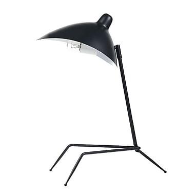 Dainolite – Lampe de table, 1 ampoule, 21 x 10 x 18 po, noir mat (210T-MB)