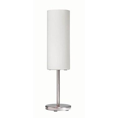 Dainolite – Lampe de table avec abat-jour en verre givré, 18 x 5 x 5 po, chrome satiné (83205-SC-WH)