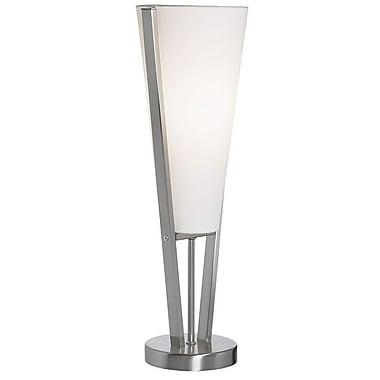 Dainolite – Lampe de table Emotions avec abat-jour blanc, 19 x 6 x 6 po, chrome satiné (83322-SC)