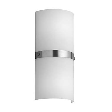 Dainolite 2LT Wall Sconce Frosted Glass 13 x 6 x 3 in White (603W-SC)