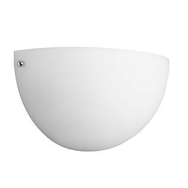 Dainolite 1LT Wall Sconce Frosted Glass 5 x 10 x 5.5 in White (604W-WH)