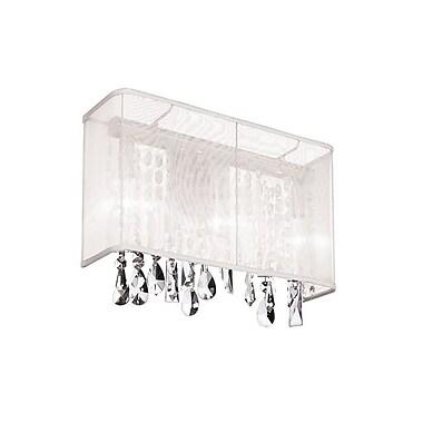 Dainolite – Applique murale, 1 ampoule, abat jour rectangulaire en organza blanc, 10 x 8 x 6 po, chrome poli (85306W-44-119)