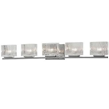 Dainolite 5LT Vanity 5 x 35 x 5 in Polished Chrome (V1620-5W-PC)