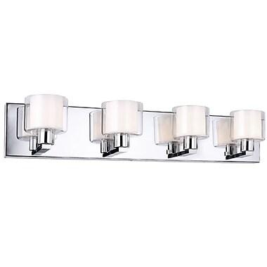 Dainolite – Luminaire de salle de bain, 4 ampoules, 4,5 x 25,5 x 4,5, chrome poli (V2005-4W-PC)