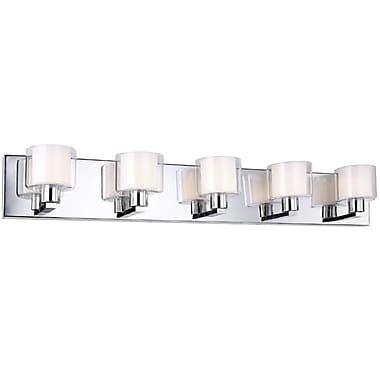 Dainolite – Luminaire de salle de bain, 5 ampoules, 4,5 x 32 x 4,5, chrome poli (V2005-5W-PC)