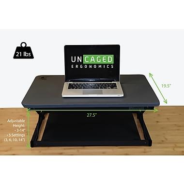 Uncaged Ergonomics CHANGEdesk MINI, Sit to Stand Desk Riser for Laptops, Black