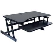 Rocelco – Plateforme pour bureau assis/debout, hauteur réglable, EADR+MAFM avec tapis anti-fatigue moyen, noir (EADRMAFM)