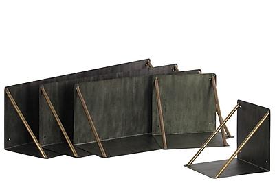17 Stories 5 Piece Metal Wall Shelf Set WYF078281731849