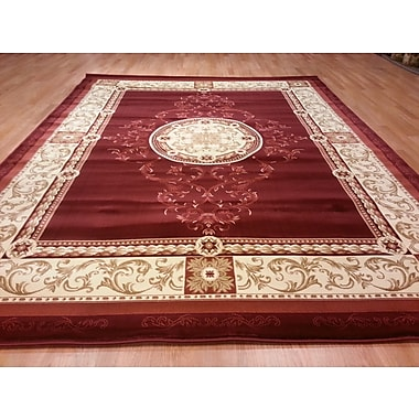 Rug Tycoon Red Area Rug; 6'6''x9'9''