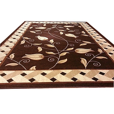 Rug Tycoon Hand-Carved Brown Area Rug; 3' x 5'