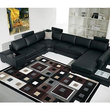 Rug Tycoon Black Area Rug; 4' x 6'