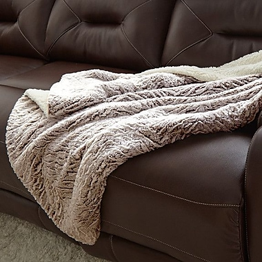 Willa Arlo Interiors Klas Reverse Throw Blanket; Chocolate