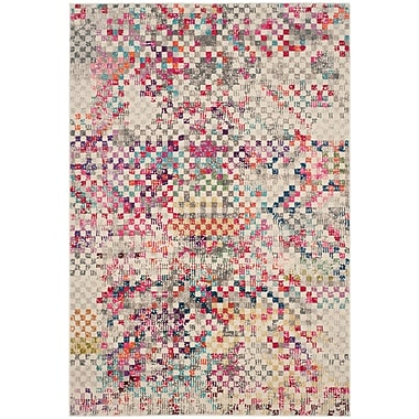 Mistana Elston Grey/Multi Area Rug; 4' x 5'7''