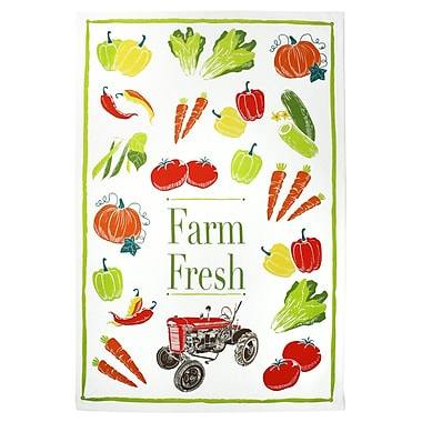 August Grove Farm Fresh Designer Print Cotton Dishcloth (Set of 2)
