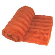 Willa Arlo Interiors Eisley Double Sided Faux Fur Throw Blanket; Burnt Orange