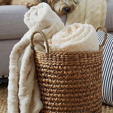 Willa Arlo Interiors Eisley Double Sided Faux Fur Throw Blanket; Ivory