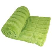 Willa Arlo Interiors Eisley Double Sided Faux Fur Throw Blanket; Citron