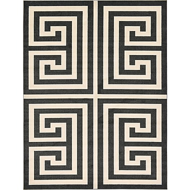 Willa Arlo Interiors Ellery Black/Beige Area Rug; 9' x 12'