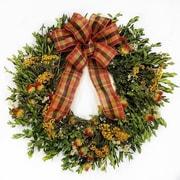 Alcott Hill Fall 22'' Wreath w/ Plaid Bow