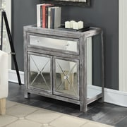 Willa Arlo Interiors Rothman Mirrored Cabinet; Weathered Gray