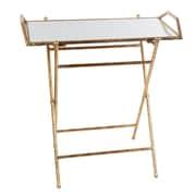 Willa Arlo Interiors Basilio Folding Tray Table; Gold
