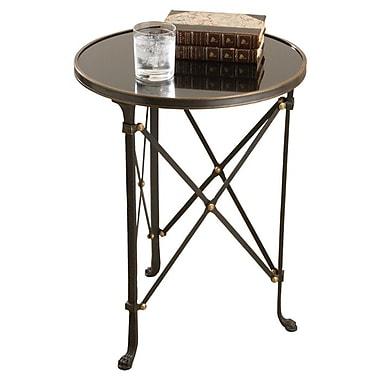 Willa Arlo Interiors Robillard End Table; Iron & Black Granite