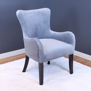 Willa Arlo Interiors Kaat Velvet Wing back Chair; Sharkfin Gray